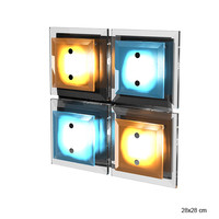 lussole modern contemporary ceiling wall glass lamp sconce colored