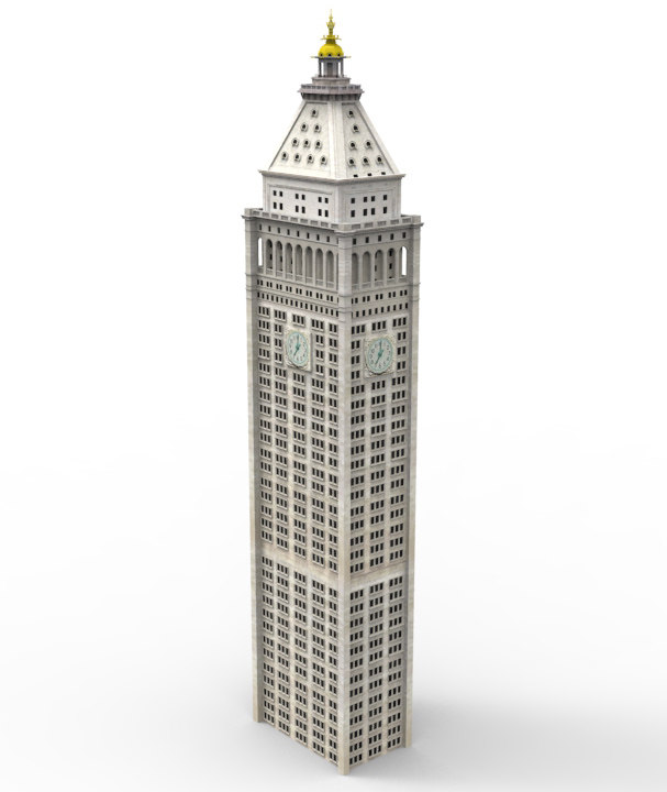 metropolitan life tower 3d obj