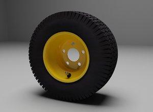 riding lawn mower wheel 3d max