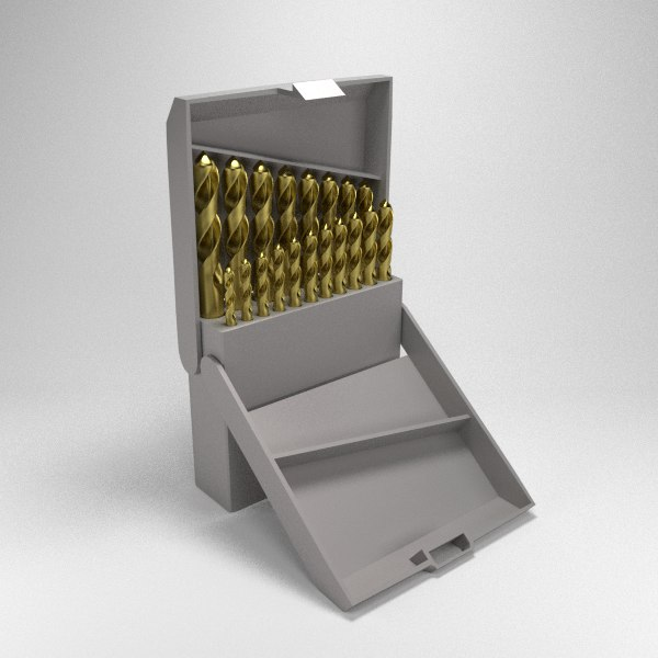 3d model titanium drill bit