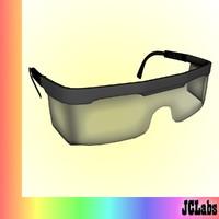 3d safety glasses model