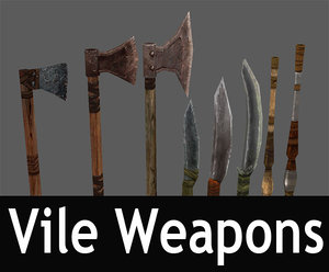 3d model of vile weapons pack