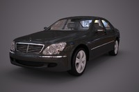 mercedes benz s class 3d model