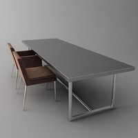 Contemporary Conference Table & Chairs