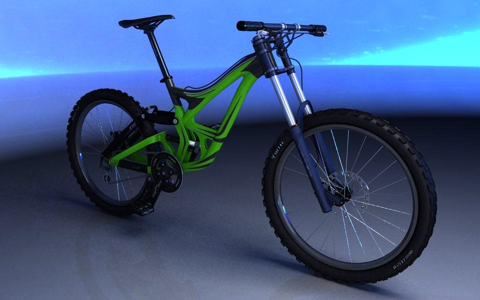 downhill bike 3d max