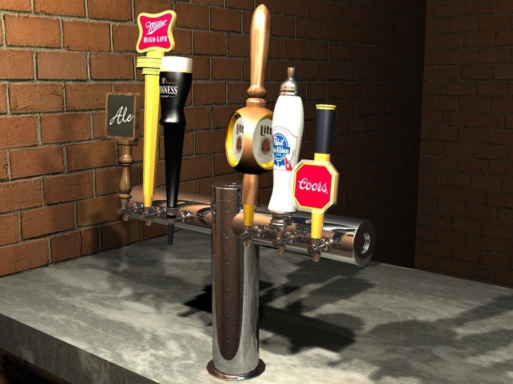 3d model beer taps