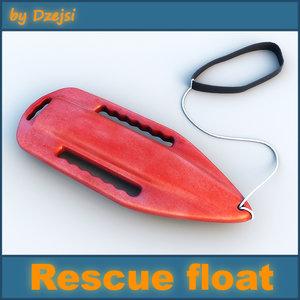 lifeguard rescue float 3d 3ds