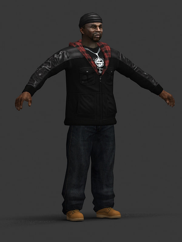 character male 3d max