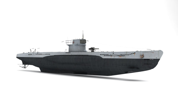 3d max german submarine u-201