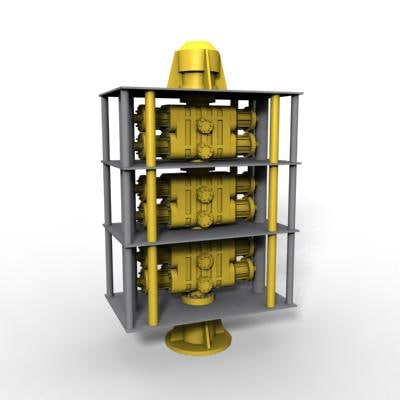 blowout preventer 3d model