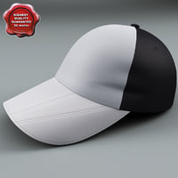 3d model baseball cap