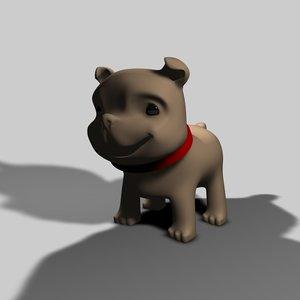 3d dog puppy