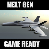F-18 Hornet US Navy Jet Fighter Game Ready