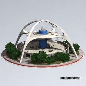 theme building 3d model