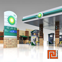 3d gas station bp model