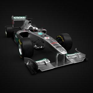 3ds max formula 1 2011 mercedes