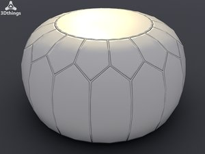 leather puff ball 3d max
