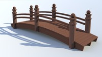 foot bridge japanese garden 3ds