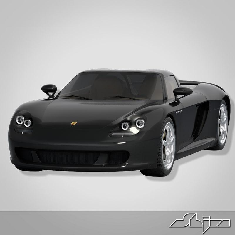 car porsche carrera gt 3d model
