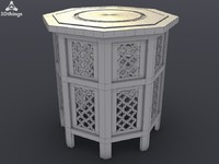 Small Moroccan octagonal inlaid table