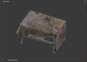3d model table tarp