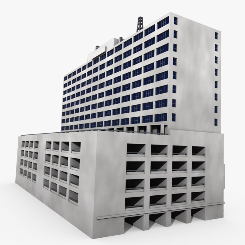 Building parking garage 3d model for 3d garage builder