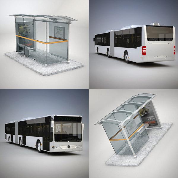 3d model citaro bus