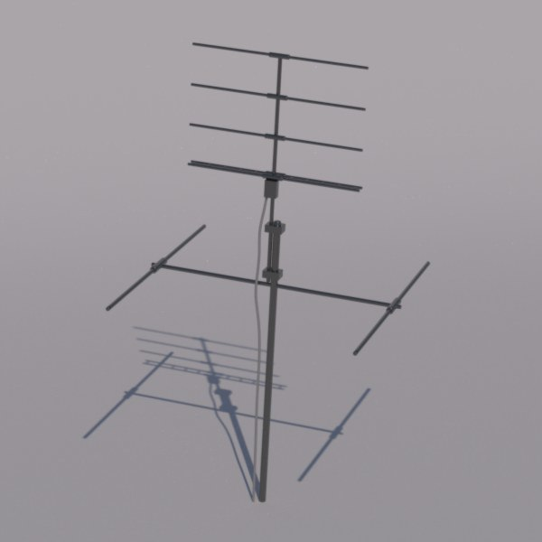 tv antenna 3d model