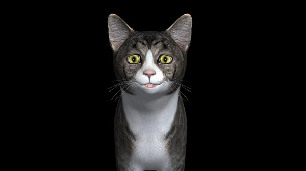 photorealistick cat 3d ma