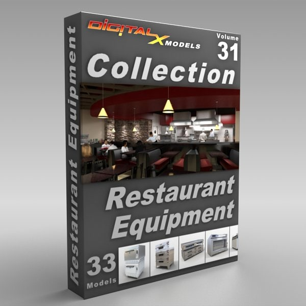 Restaurant Kitchen 3d Model model restaurant kitchen equipment appliances