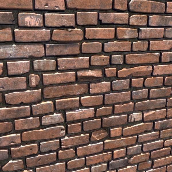 3d brown brick wall 03 model