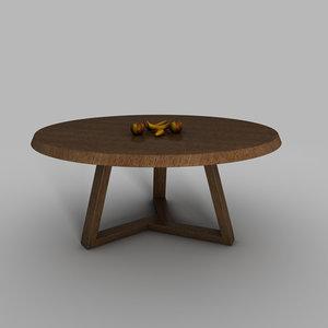 free kmp dining table 3d model