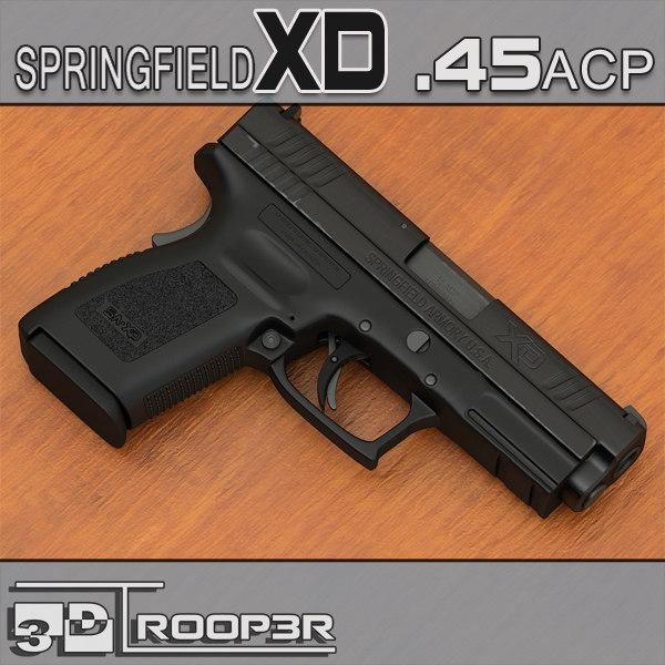 3d springfield xd handgun 45 model
