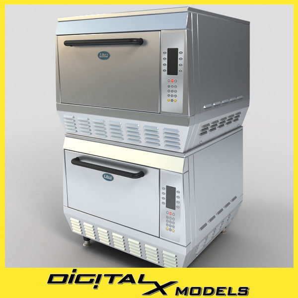 3d model commercial oven