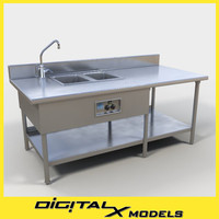 3d max commercial food prep table