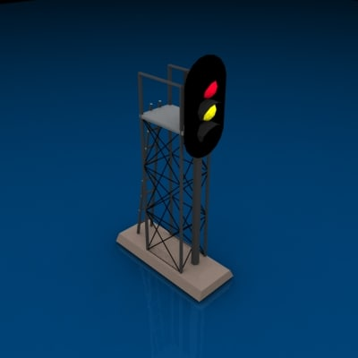 3ds max 3 light signal red