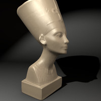queen nefertiti 3d model