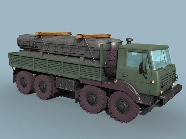 cargo truck 17 transporting 3d max