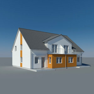 3d model photoreal villa duplex house