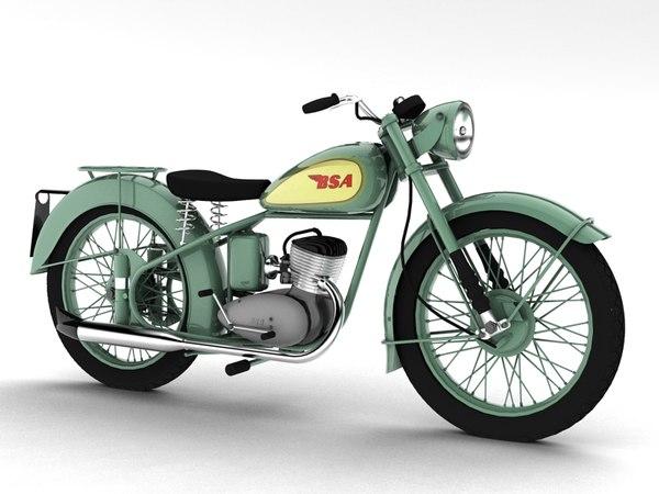 bsa bantam d1 1948 c4d free
