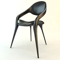3ds max black plastic chair