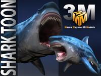 3d model shark