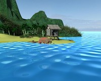 3d tropical island model