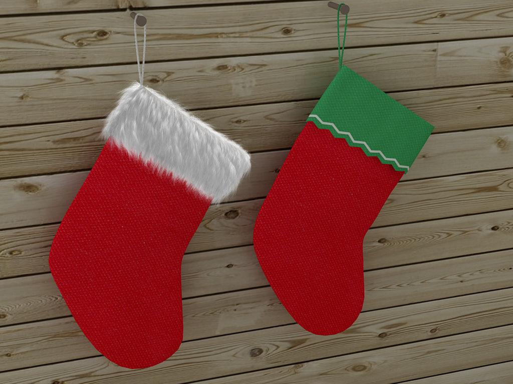 christmas stockings 3d max