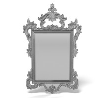 of interni ?L 2573 classic mirror baroque carved silver wooden