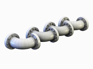 3ds max pipe 90 bend short