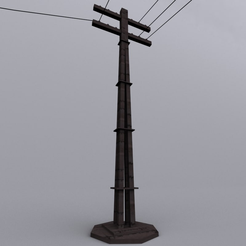 old stobie pole 3d model