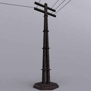old stobie pole 3d model