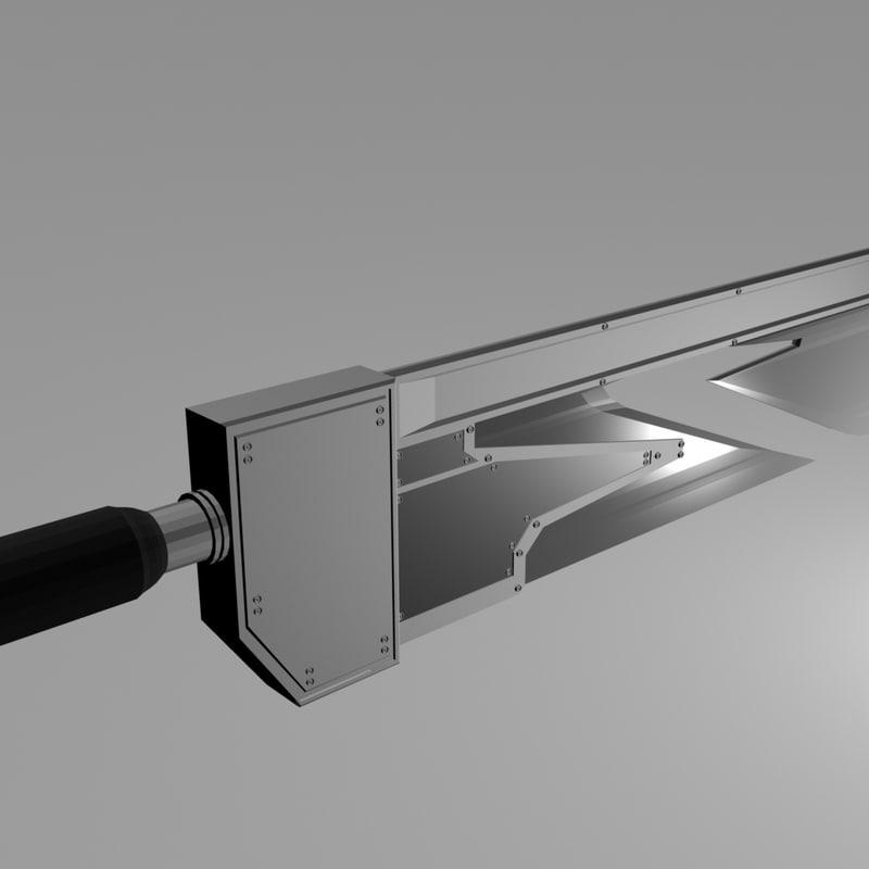 fantasy sword blades 3d model