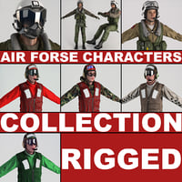 Air Force Characters Rigged
